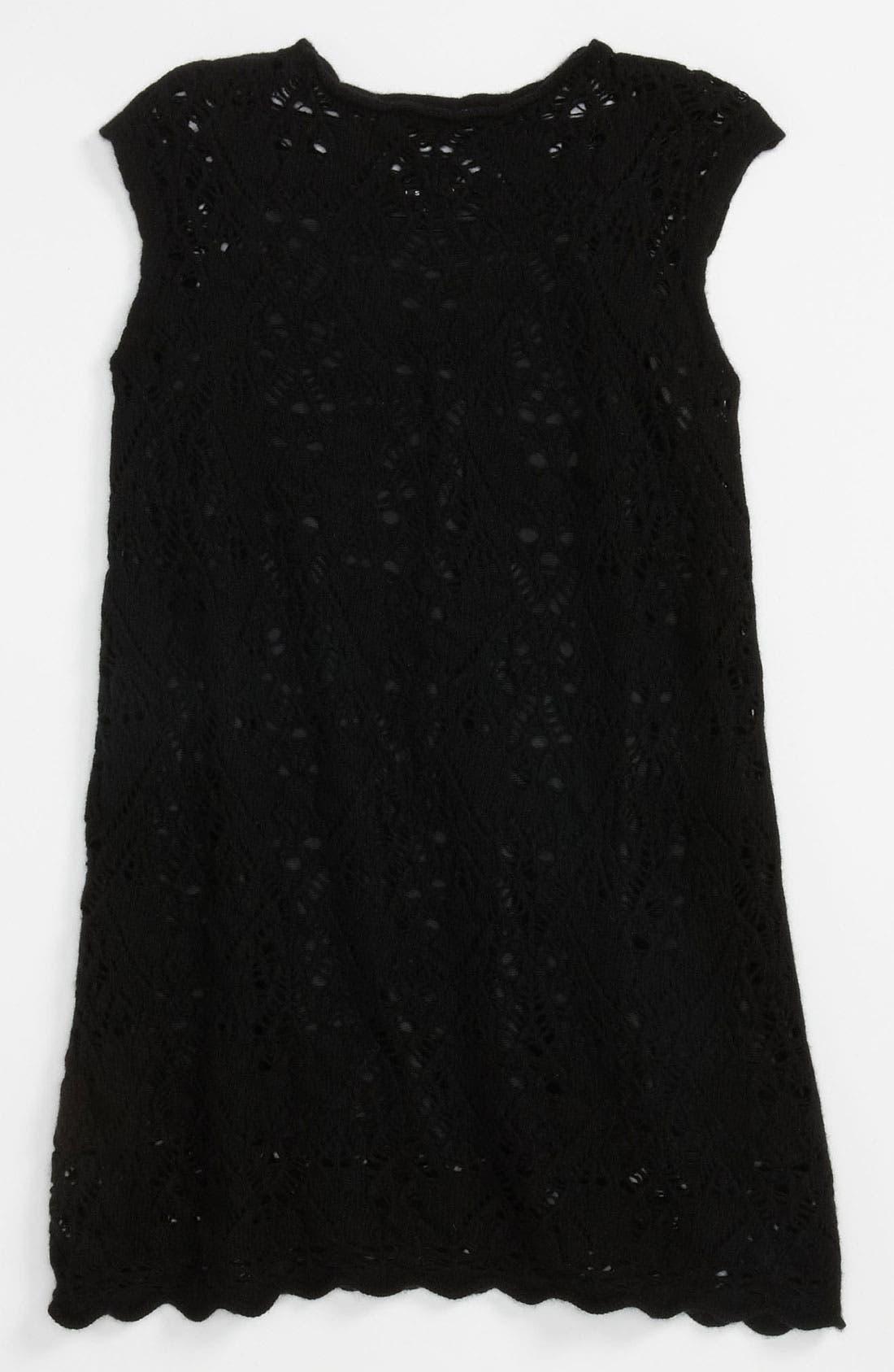 Main Image - Sisley Young Pointelle Knit Dress (Big Girls)