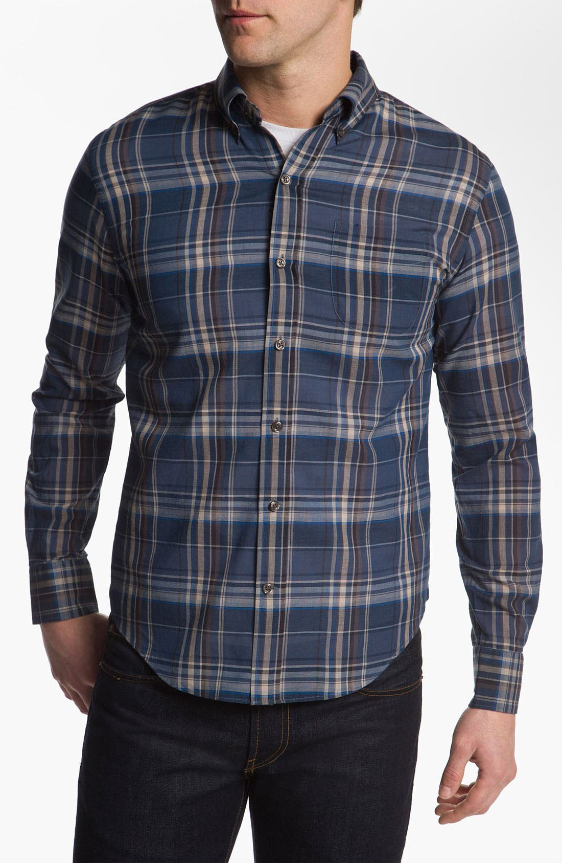 Alternate Image 1 Selected - Vince Plaid Woven Shirt