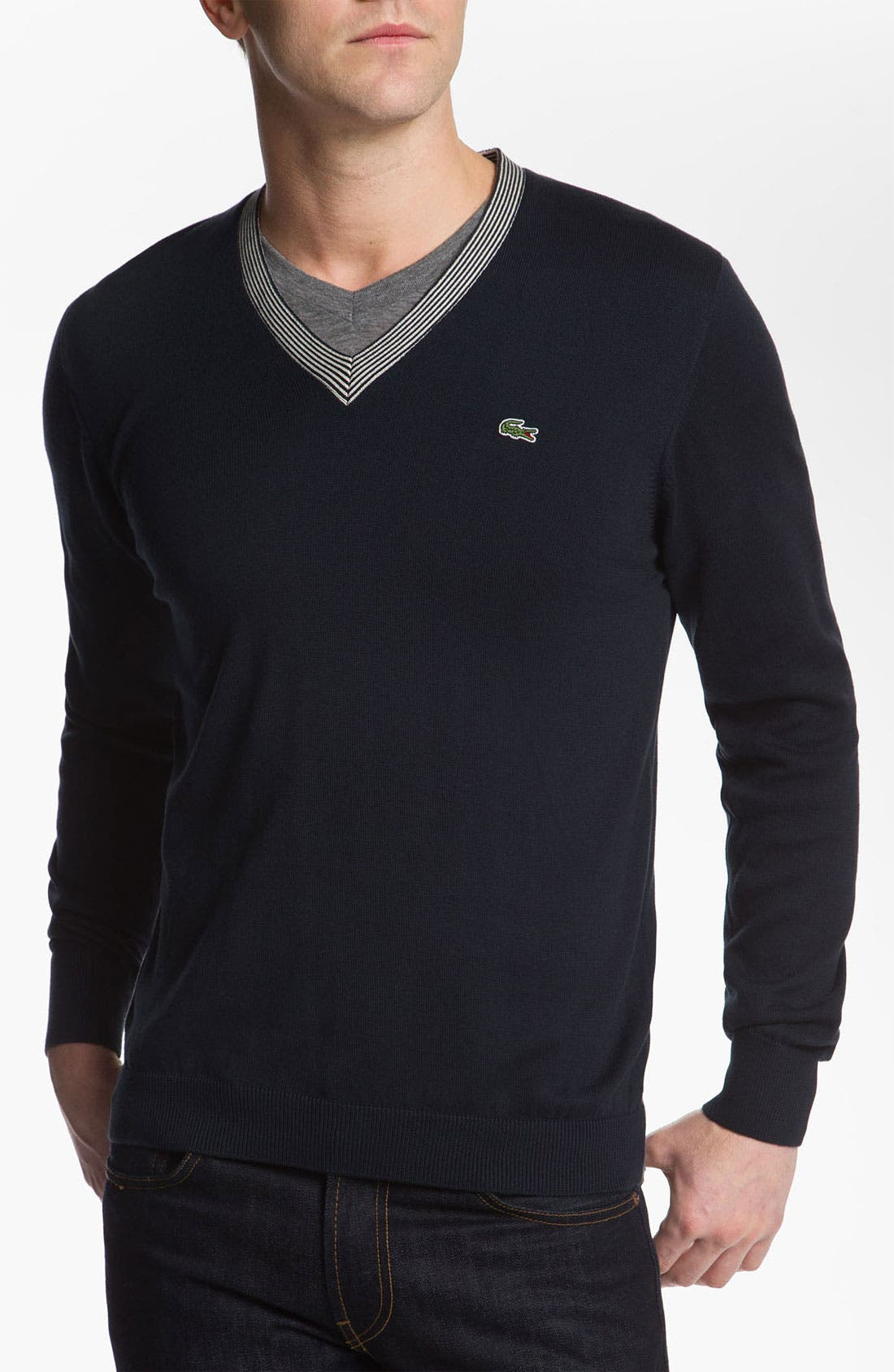Alternate Image 1 Selected - Lacoste V-Neck Sweater