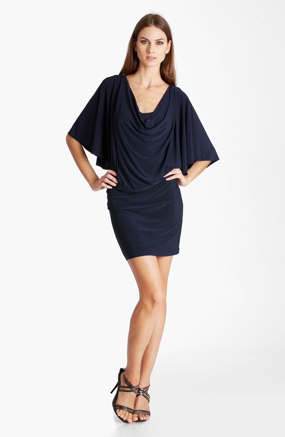 Alternate Image 1 Selected - JS Boutique Cowl Neck Blouson Jersey Dress