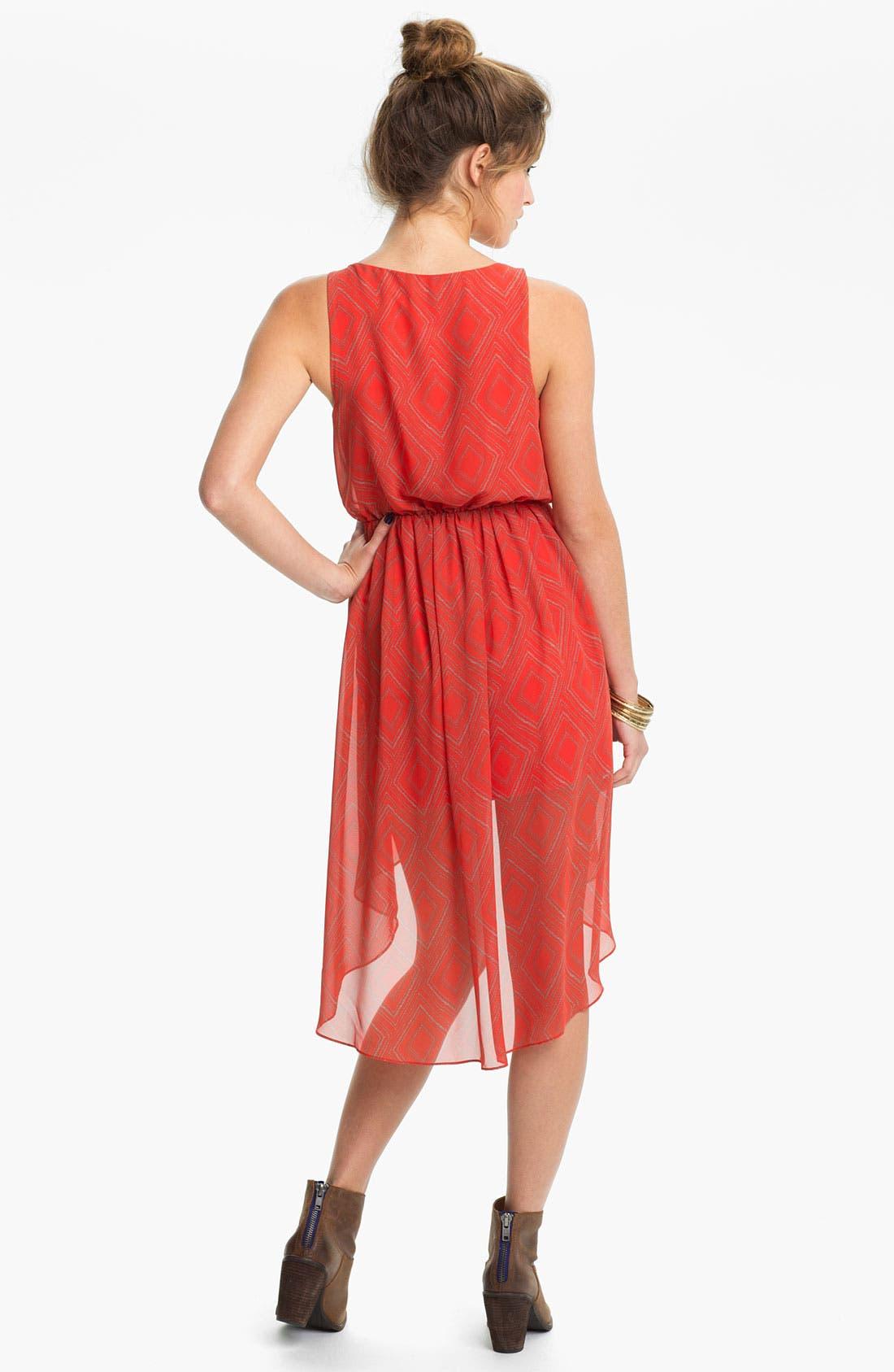 Alternate Image 2  - Soprano High/Low Print Chiffon Dress (Juniors)