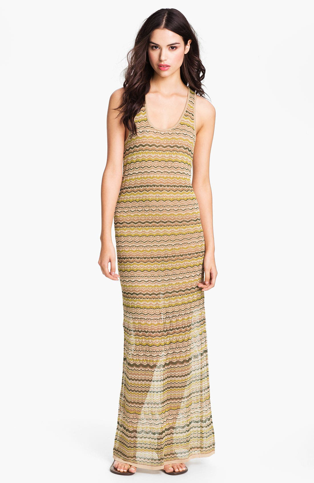 Main Image - Haute Hippie Flame Knit Racerback Maxi Dress