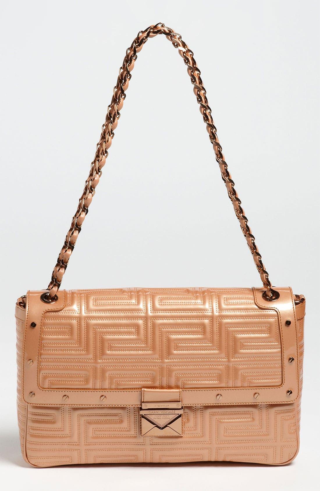 Main Image - Versace 'Large' Patent Leather Shoulder Bag