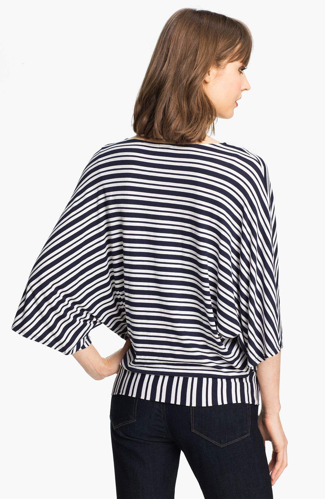 Alternate Image 2  - Ella Moss Stripe Surplice Dolman Top