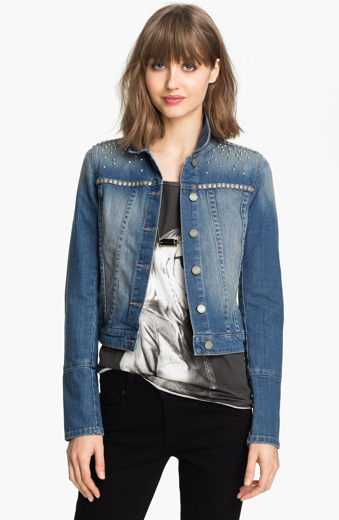 Alternate Image 1 Selected - Paige Denim 'Colbie' Studded Denim Jacket