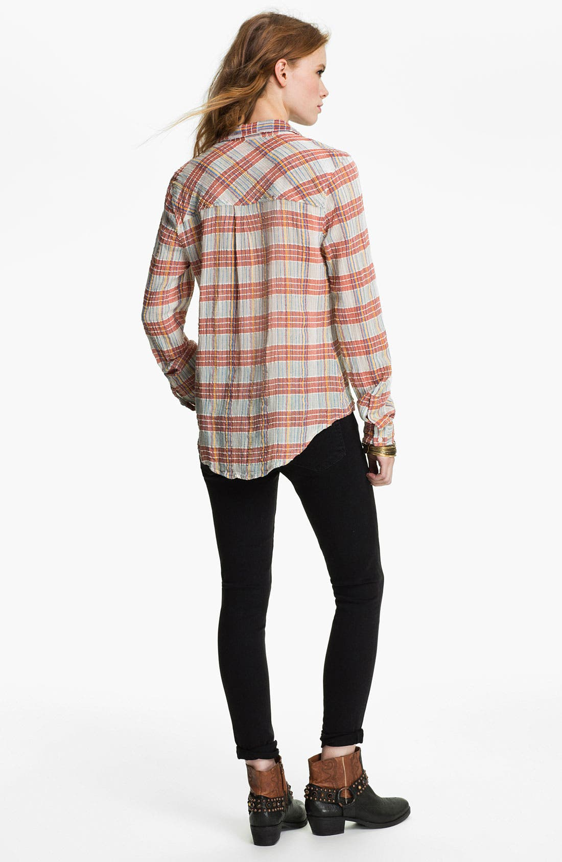 Alternate Image 2  - Free People 'Midwest' Textured Plaid Shirt