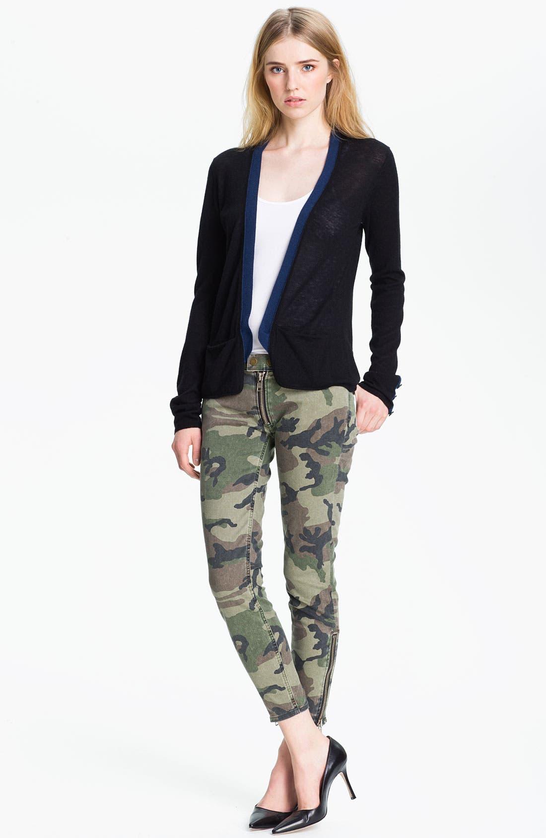 Alternate Image 3  - TEXTILE Elizabeth and James 'Cooper' Skinny Camo Print Jeans