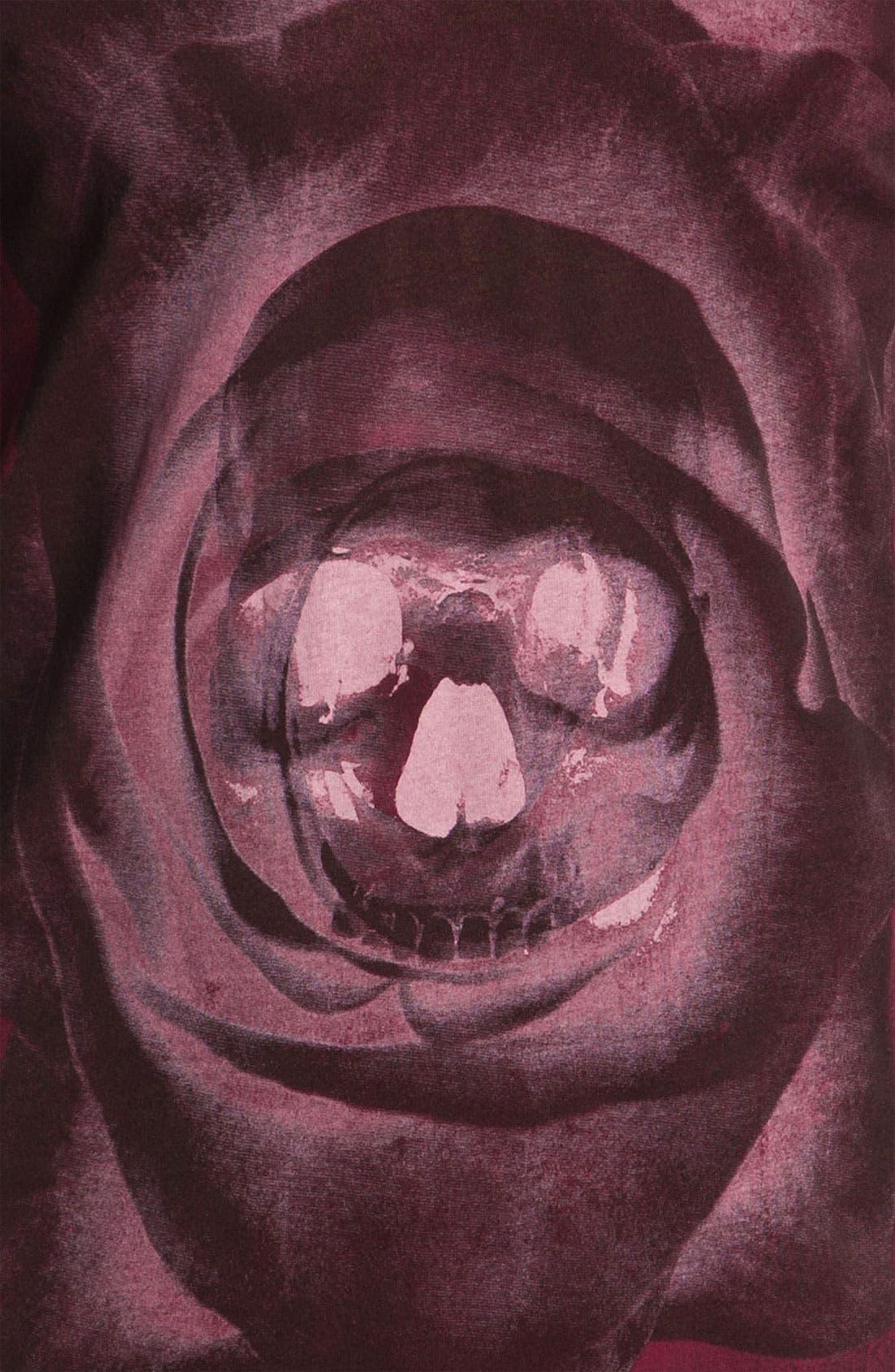 Alternate Image 3  - Black Hearts Brigade 'Skull Rose' Graphic T-Shirt