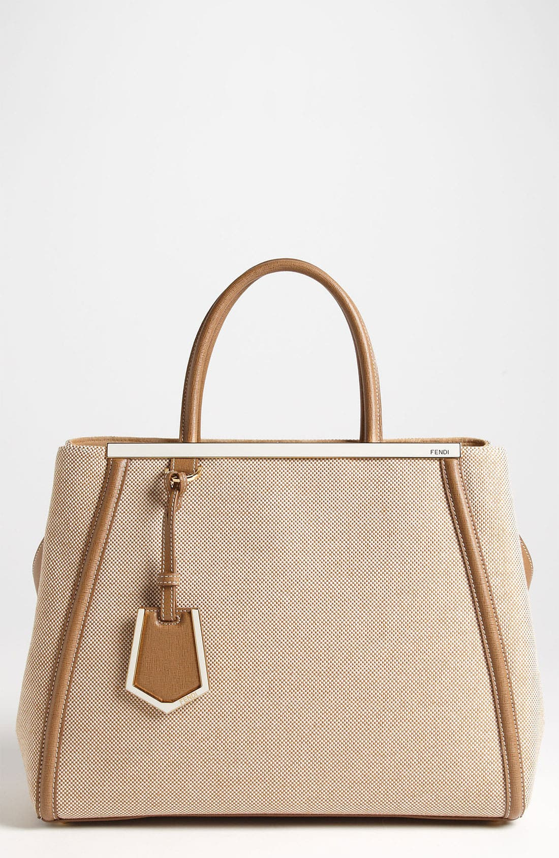 Alternate Image 1 Selected - Fendi '2Jours - Medium' Canvas Shopper