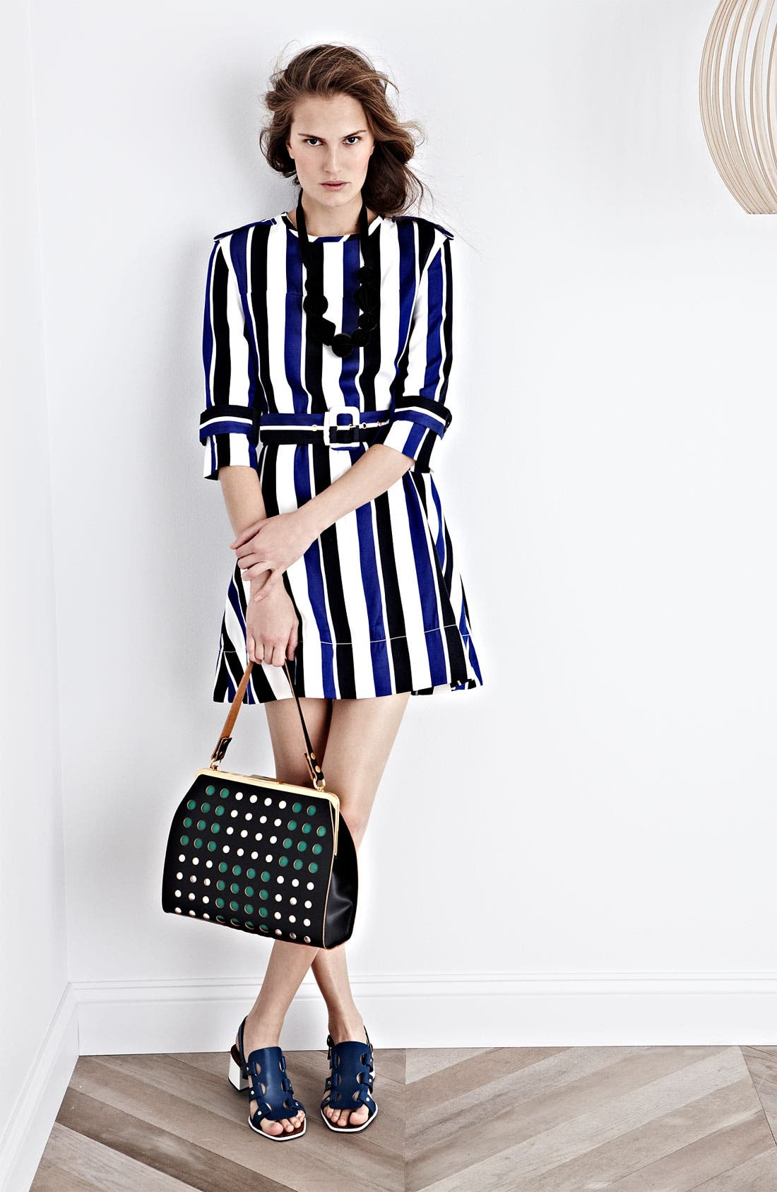 Alternate Image 6  - Marni Polka Dot Frame Handbag