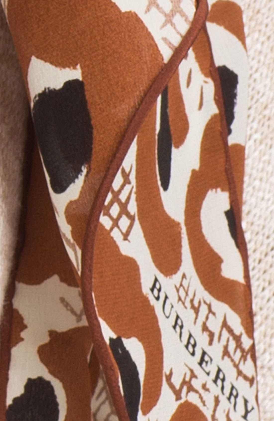 Alternate Image 2  - Burberry Prorsum 'Animal Floral' Silk Scarf