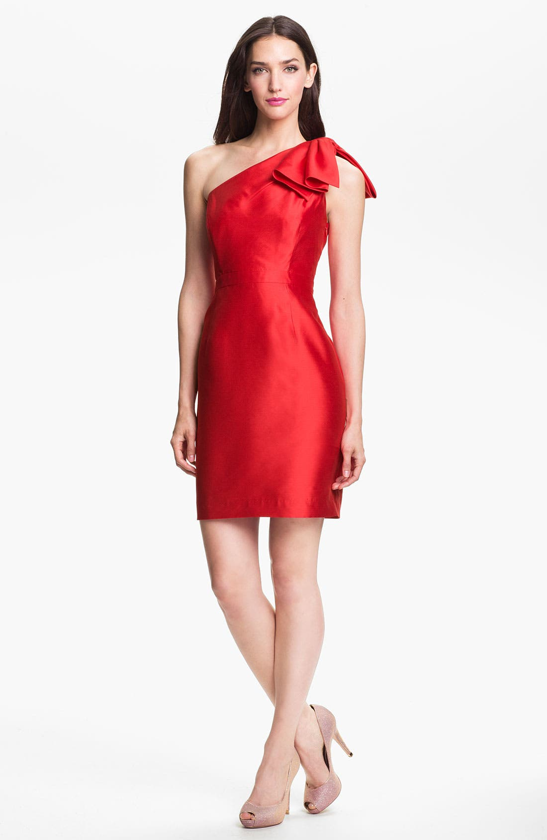 Alternate Image 1 Selected - Shoshanna One Shoulder Satin Dress