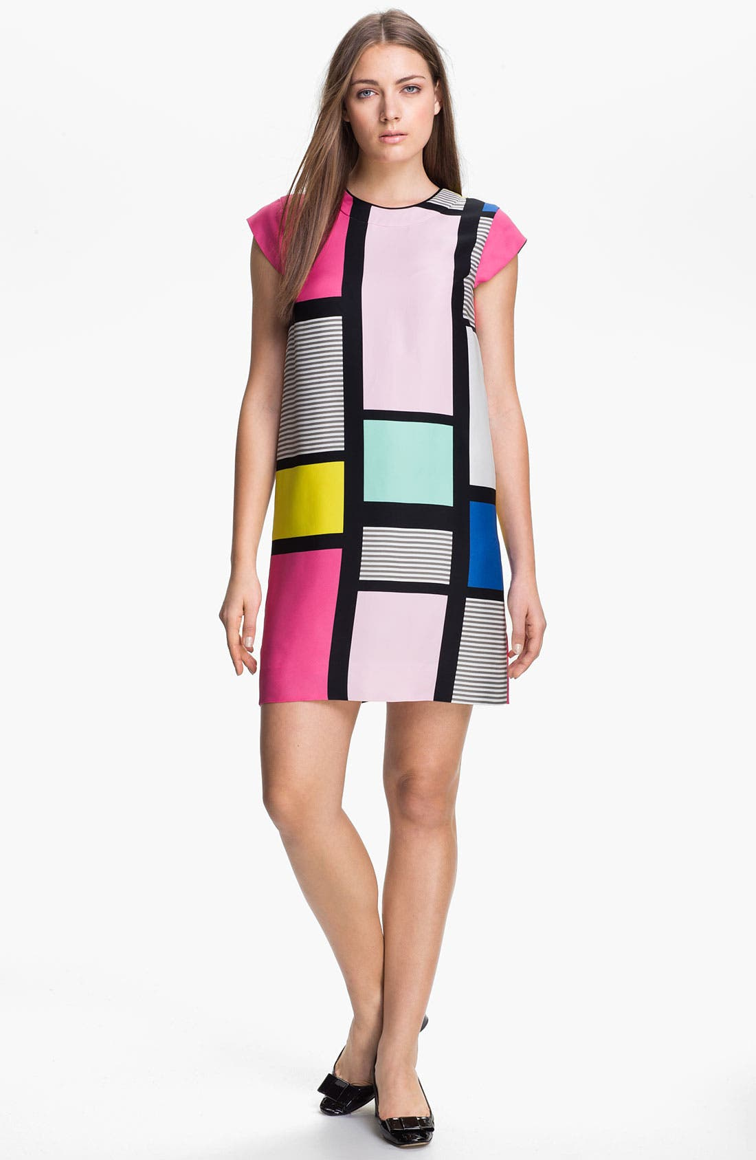 Main Image - kate spade new york 'claudette' colorblock shift dress