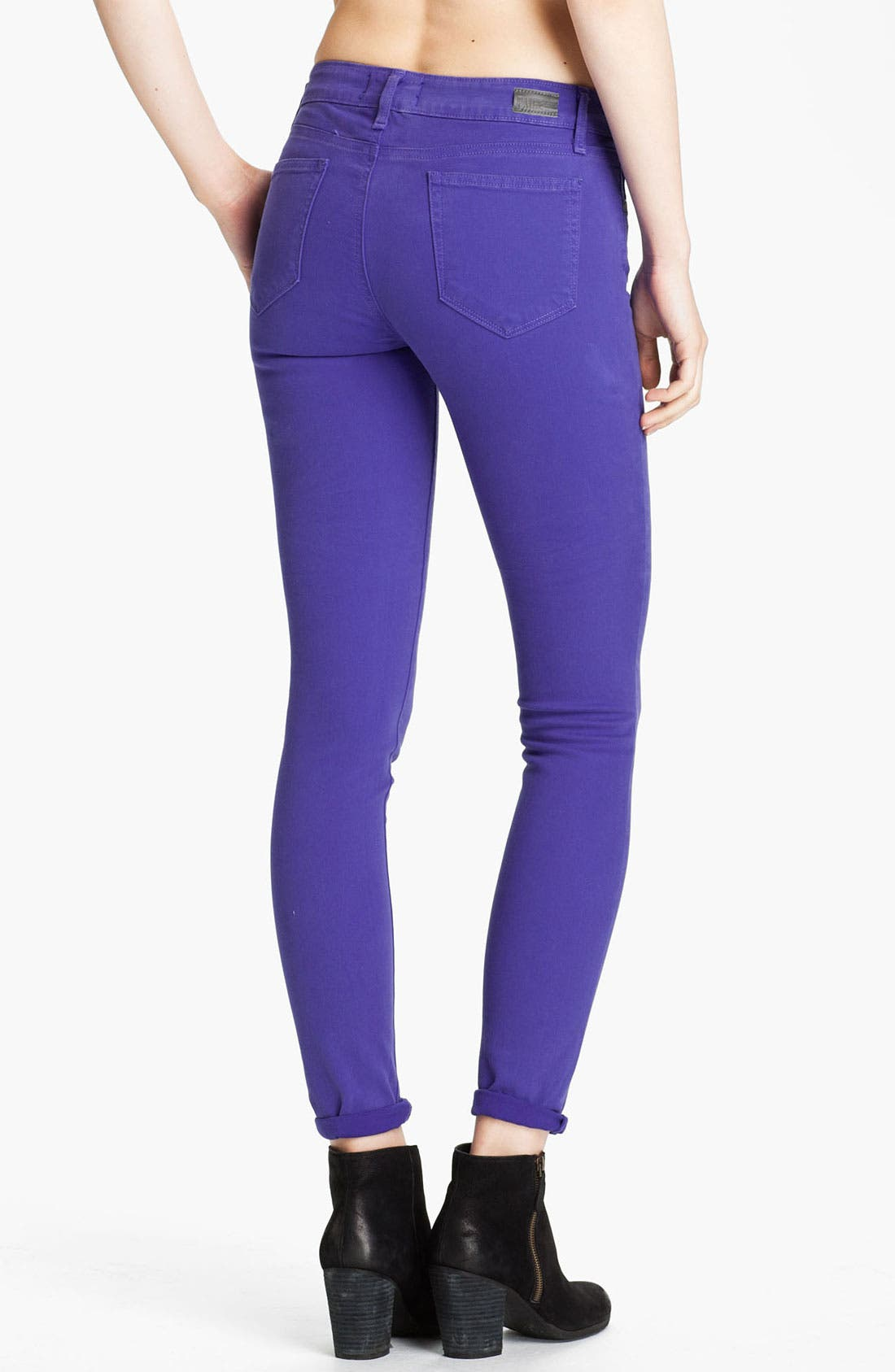 Alternate Image 2  - Paige Denim 'Verdugo' Skinny Stretch Denim Jeans (Violet Blue)