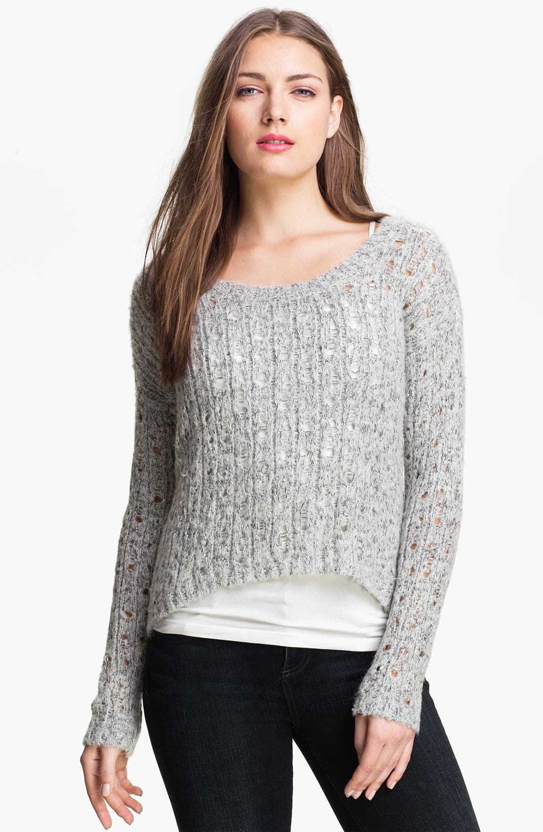 Alternate Image 1 Selected - Kensie Open Stitch Sweater (Online Exclusive)