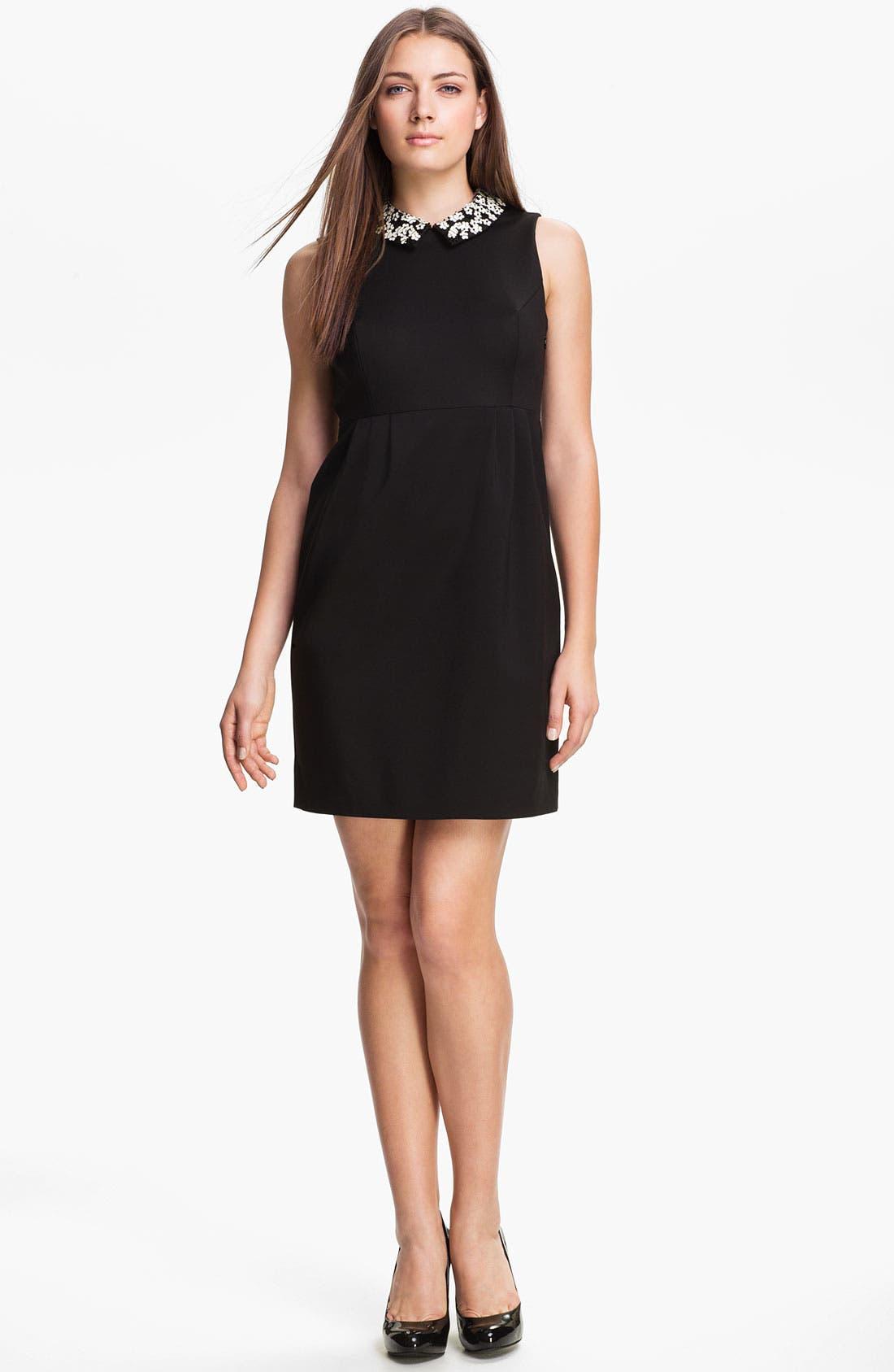 Alternate Image 1 Selected - kate spade new york 'bradie' cotton blend shift dress