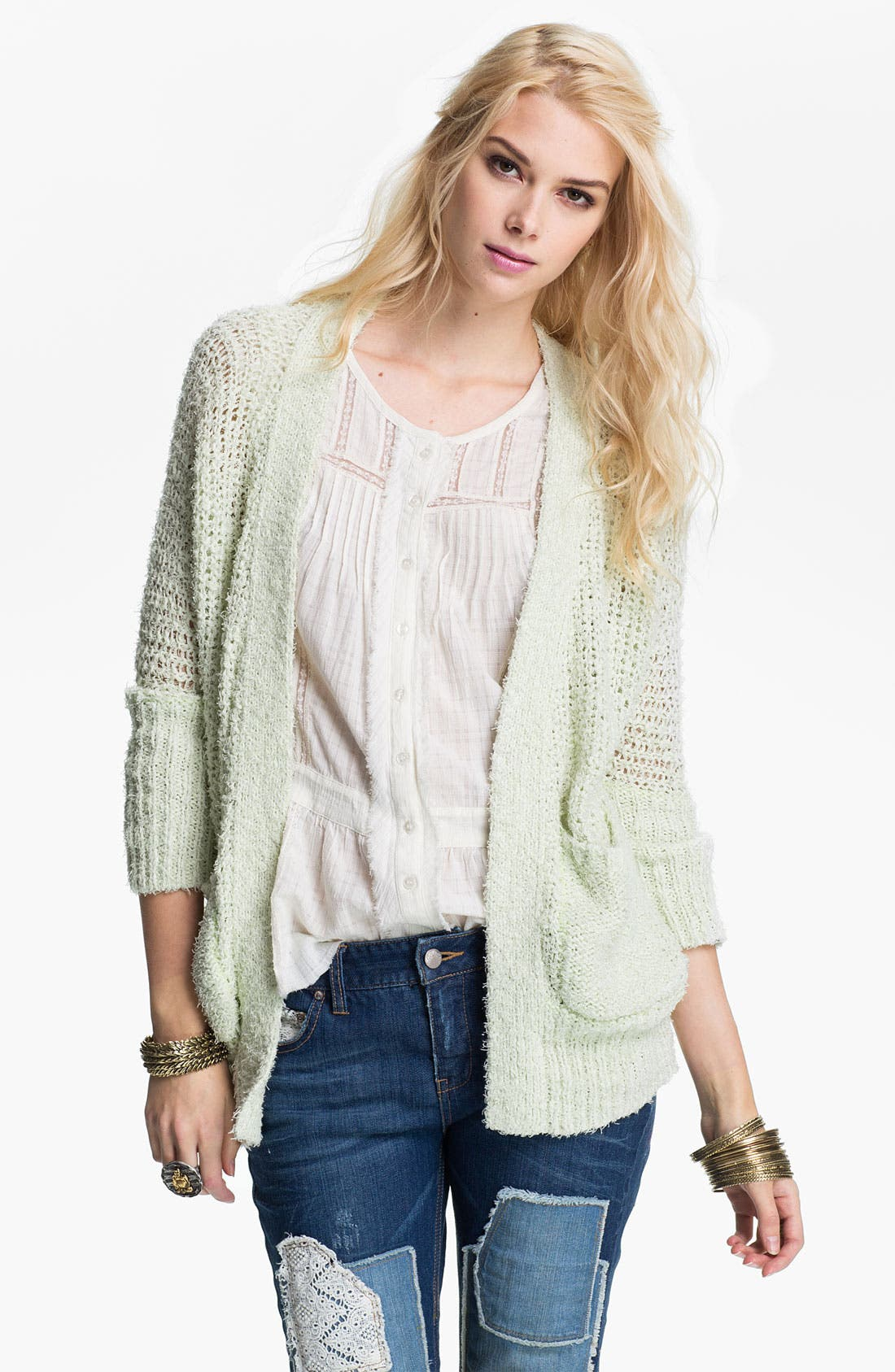 Alternate Image 1 Selected - Free People 'Oh La La' Chunky Knit Cardigan