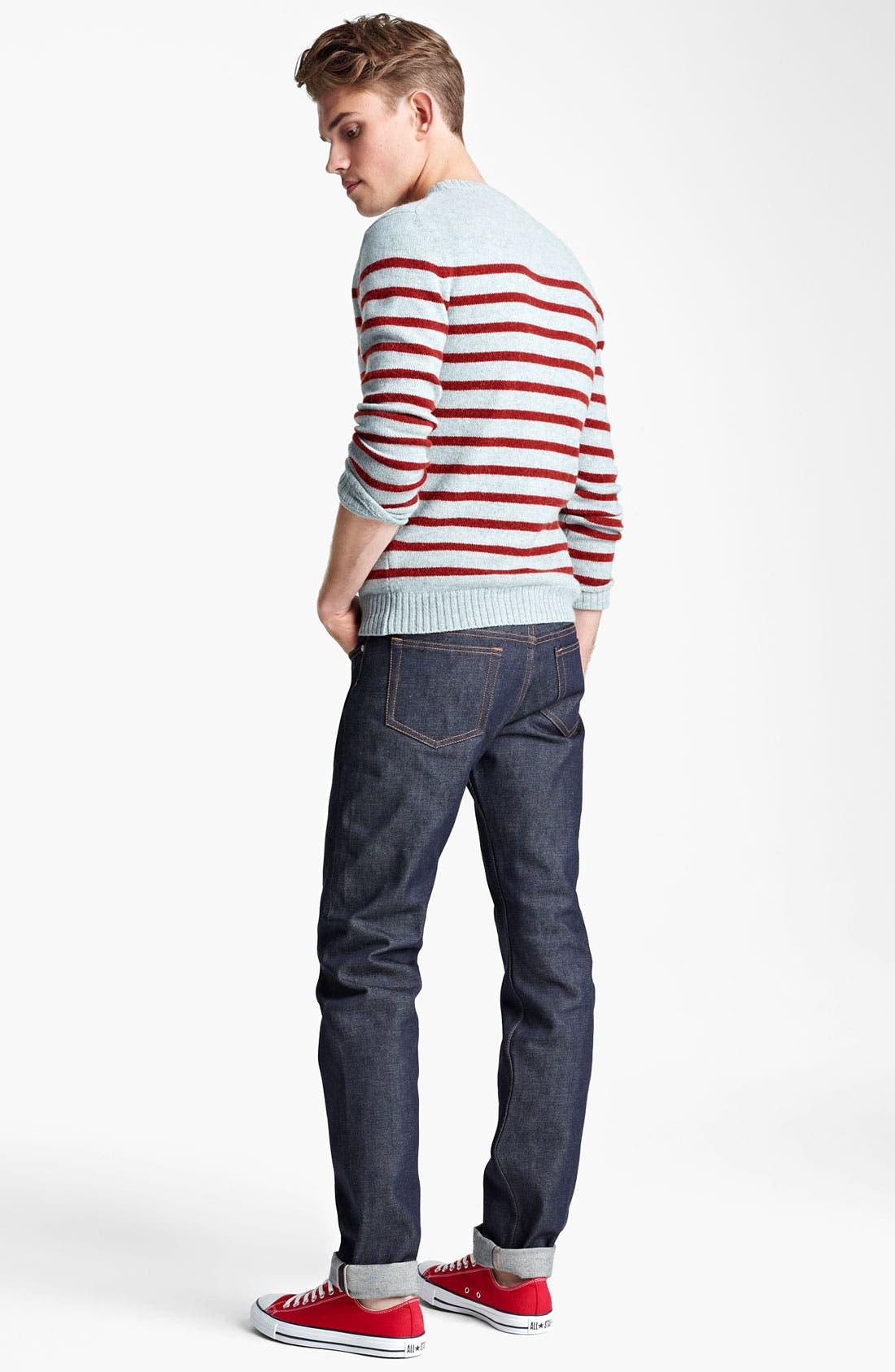 Alternate Image 5  - A.P.C. Stripe Crewneck Sweater