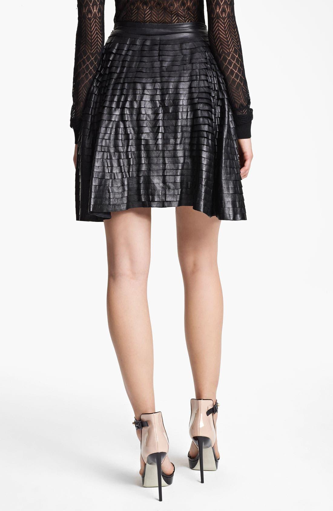 Alternate Image 2  - Jason Wu Tiered Leather Skirt