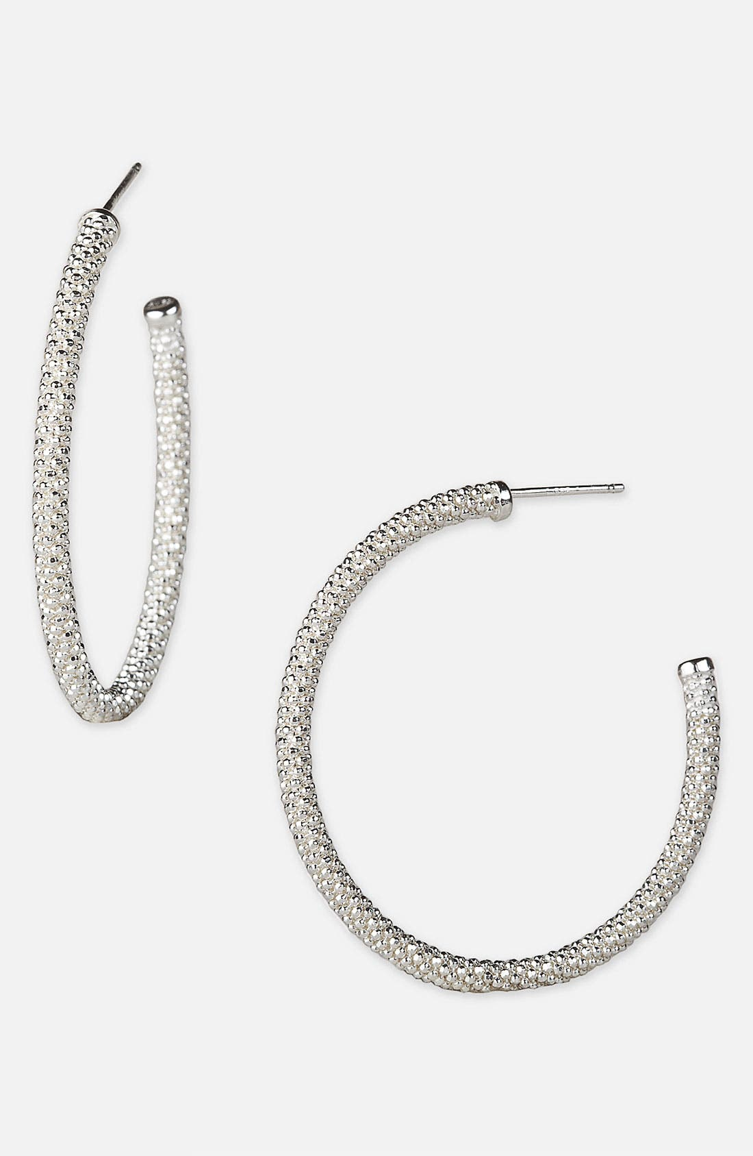 Main Image - Argento Vivo 'Diamond Cut' Hoop Earrings