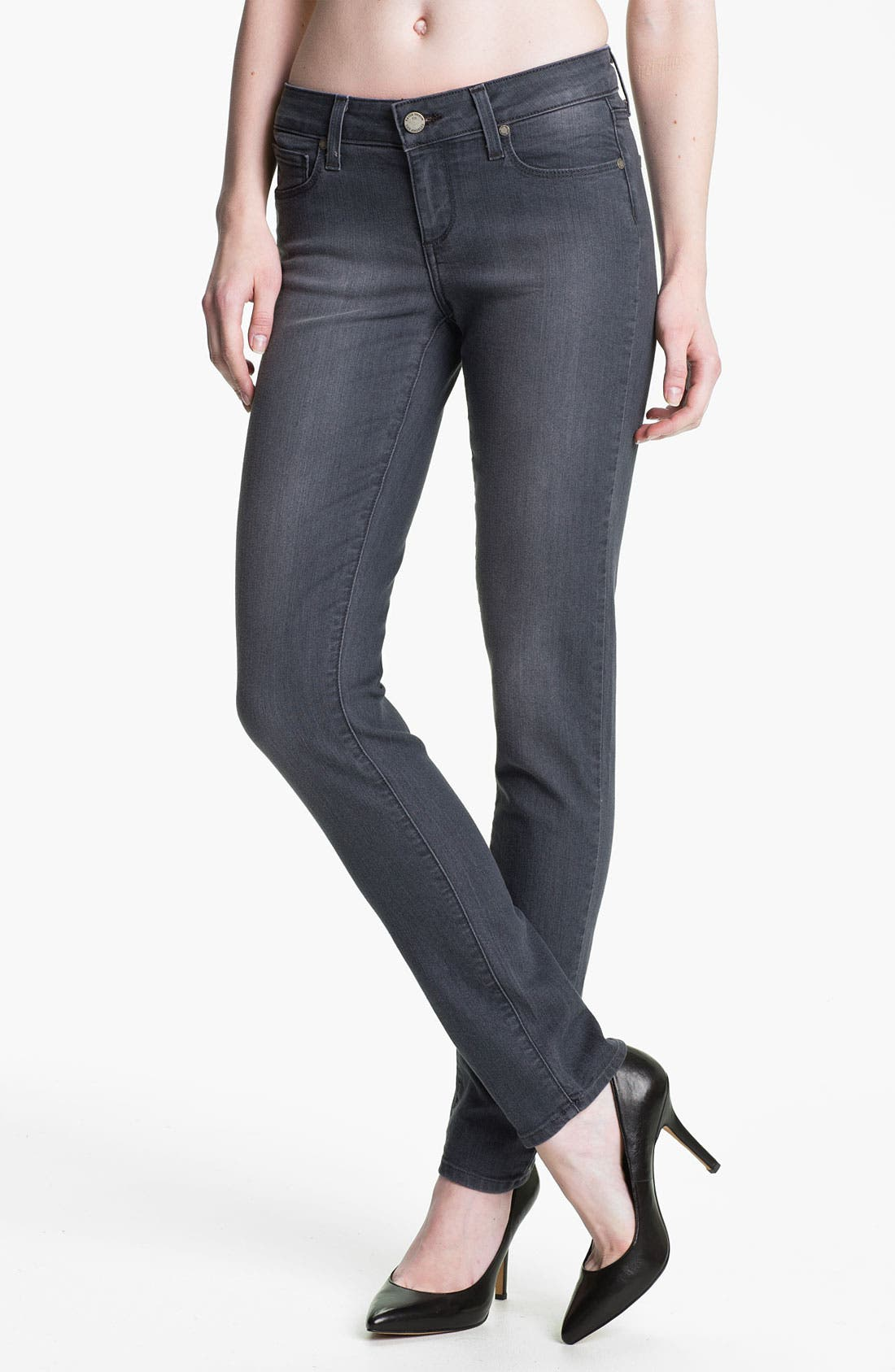 Main Image - Paige Denim 'Skyline' Skinny Stretch Jeans (Granite)