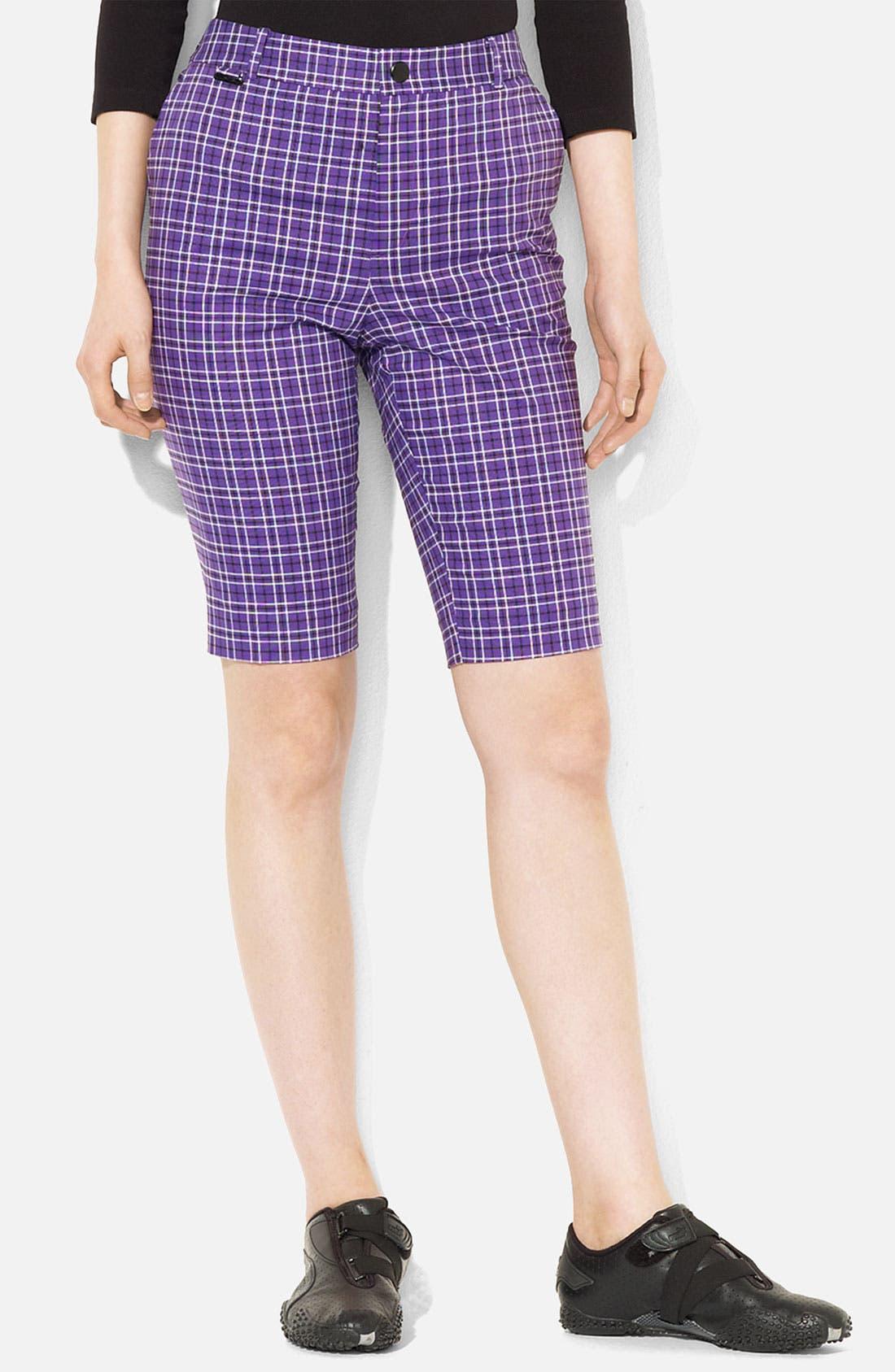 Alternate Image 1 Selected - Lauren Ralph Lauren Plaid Bermuda Shorts (Petite)