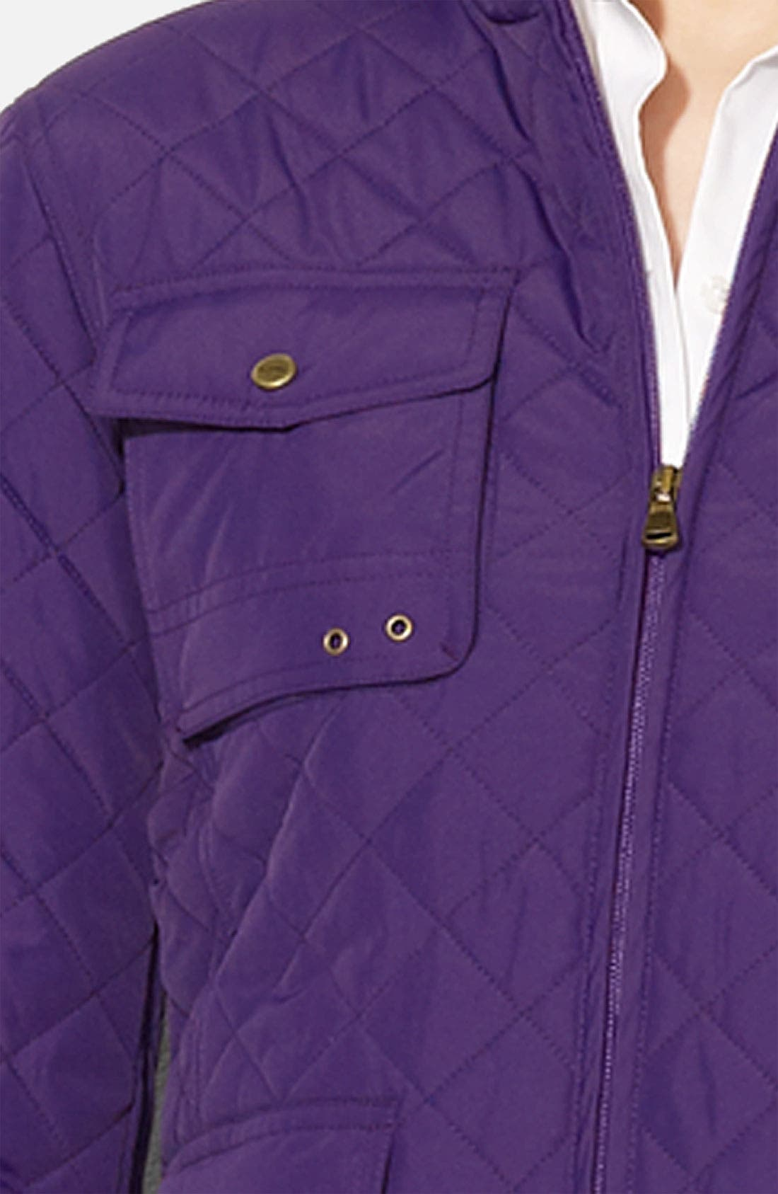 Alternate Image 2  - Lauren Ralph Lauren Quilted Jacket (Petite)