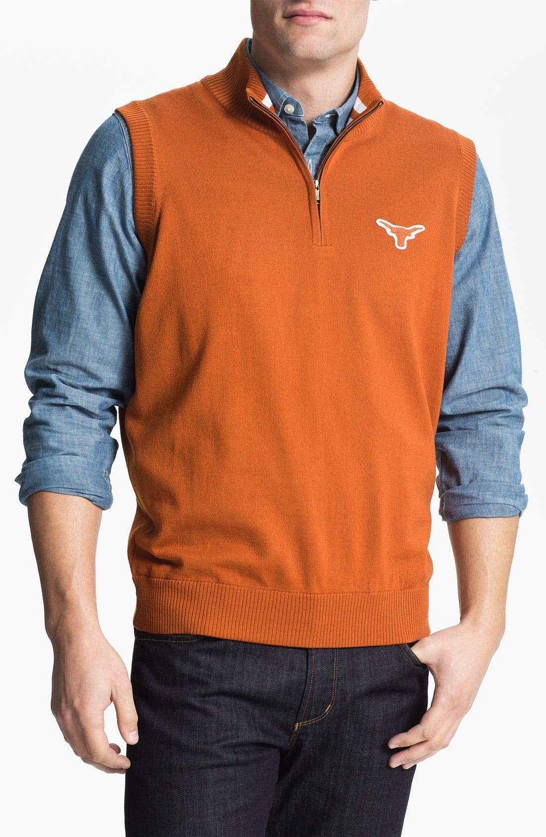 Main Image - Thomas Dean 'Texas' Quarter Zip Sweater Vest