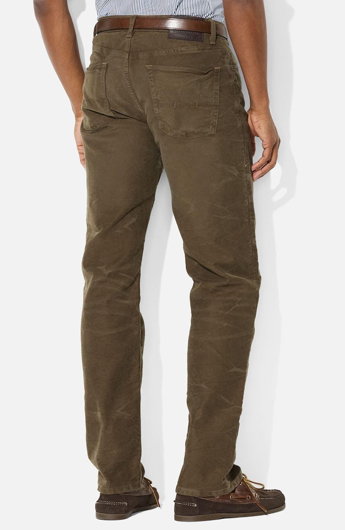 Alternate Image 2  - Polo Ralph Lauren Straight Leg Moleskin Cotton Pants