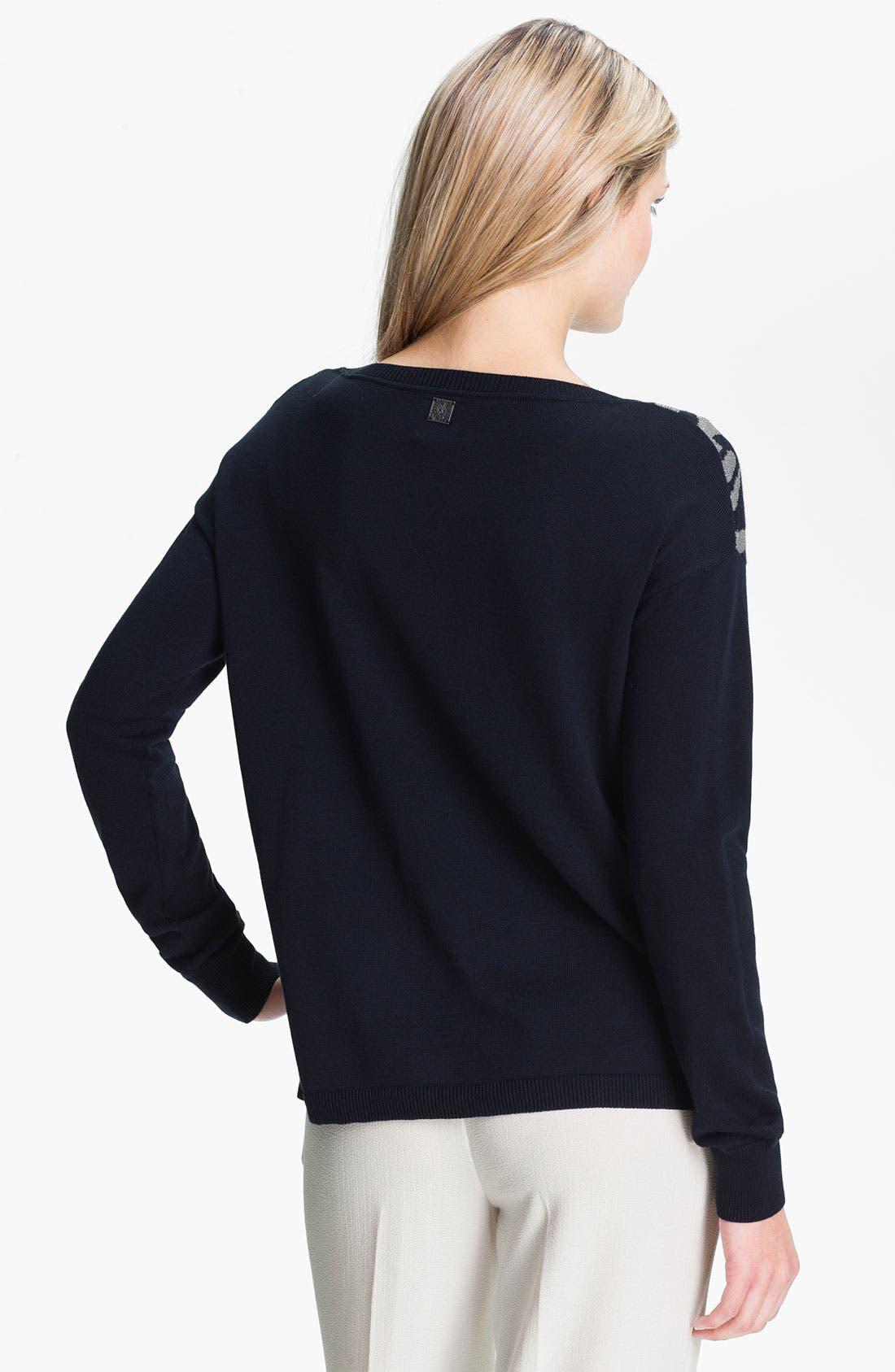 Alternate Image 2  - Anne Klein Metallic Print Sweater
