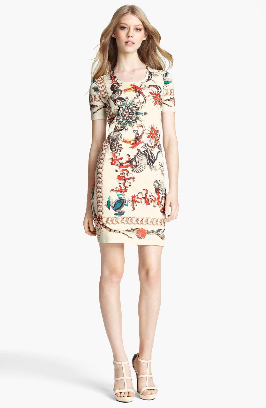 Alternate Image 1 Selected - Roberto Cavalli Print Jersey T-Shirt Dress