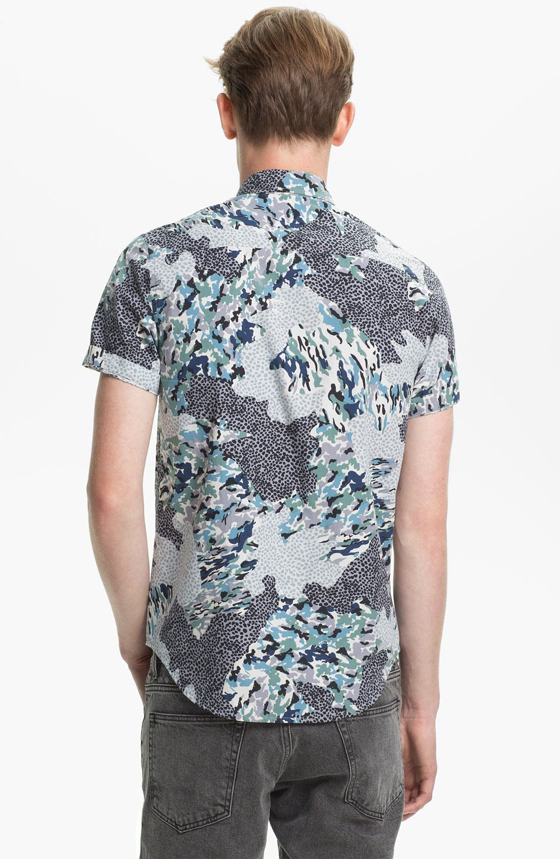 Alternate Image 2  - Topman Pattern Print Shirt