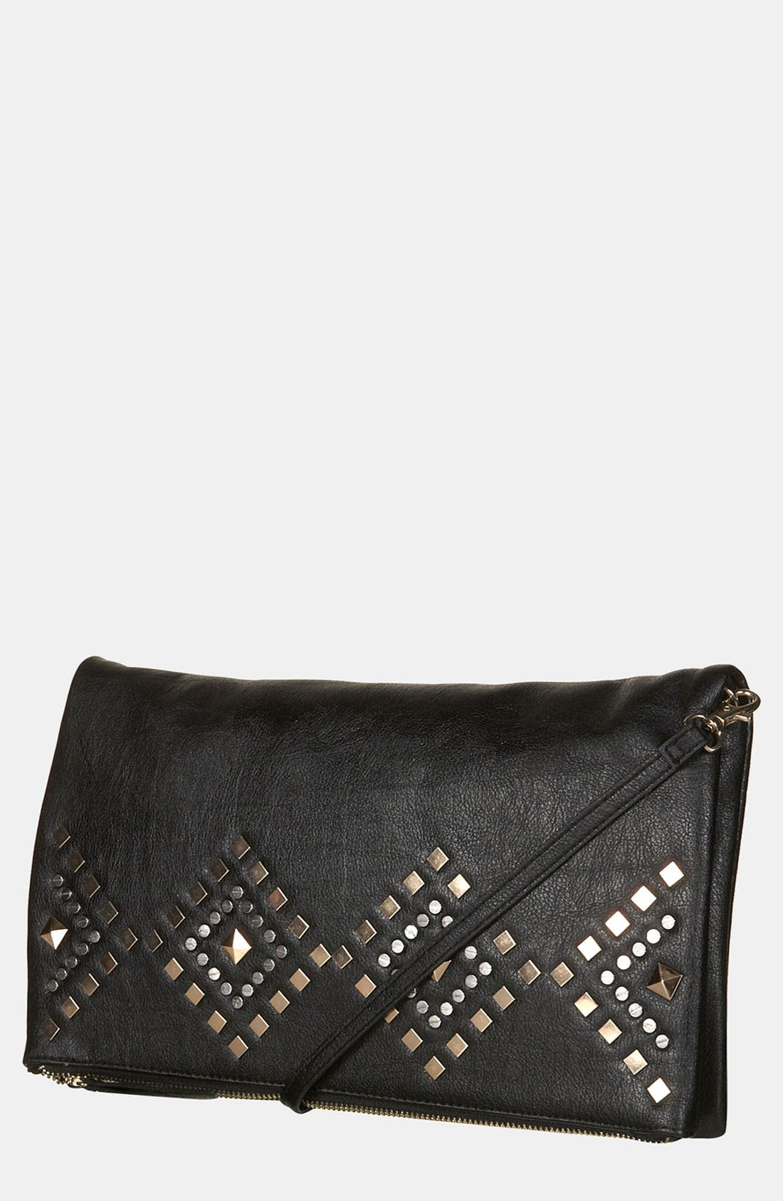 Alternate Image 1 Selected - Topshop Geometric Stud Clutch