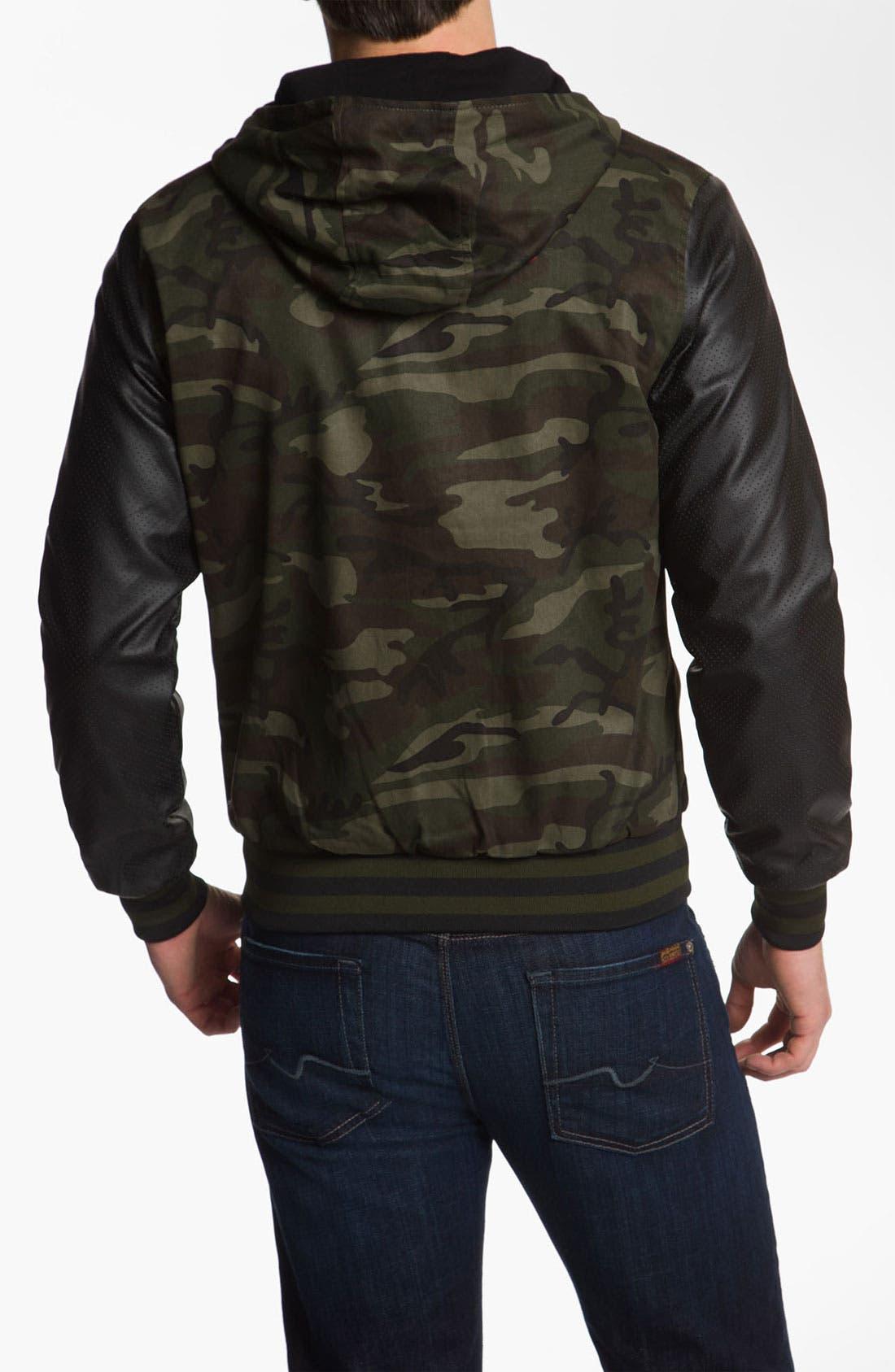 Alternate Image 2  - Lira Clothing Cotton Varsity Jacket