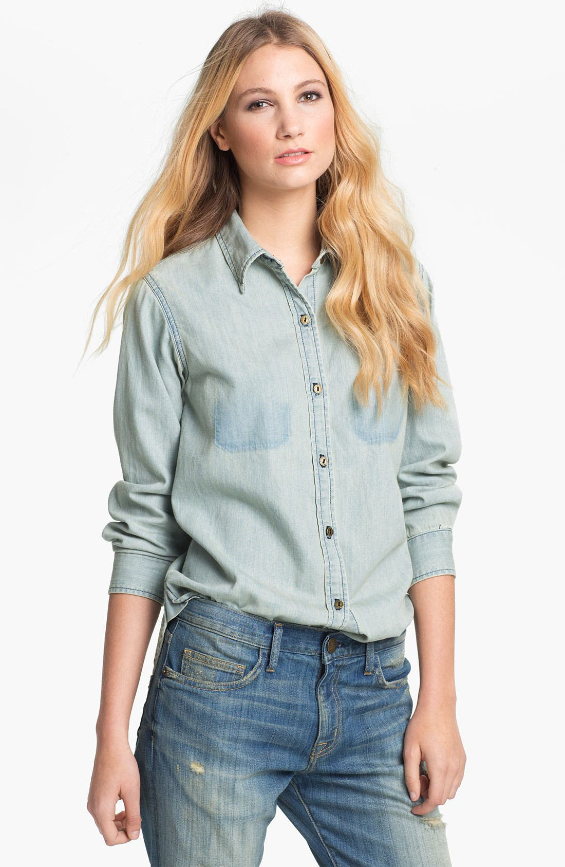 Alternate Image 1 Selected - Current/Elliott 'The Perfect' Vintage Denim Shirt