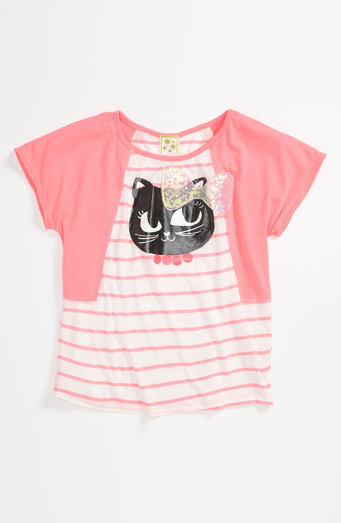 Alternate Image 1 Selected - Kiddo 'Cat' Tee (Little Girls)