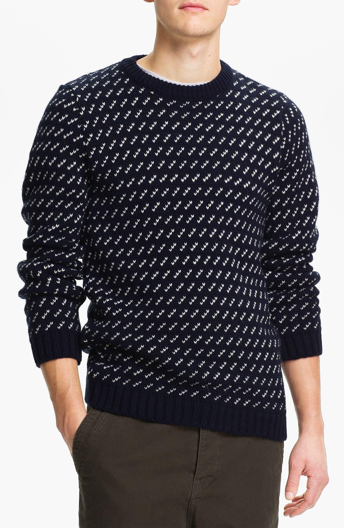 Main Image - Topman 'Dash' Knit Crewneck Sweater
