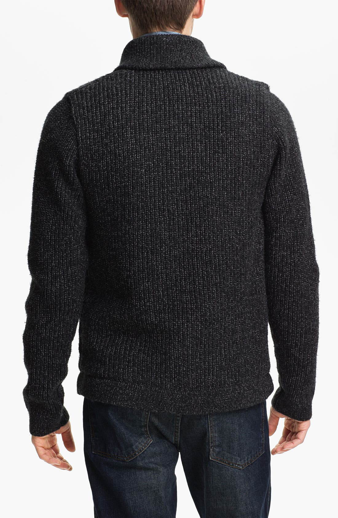Alternate Image 2  - Topman Lined Shawl Collar Sweater