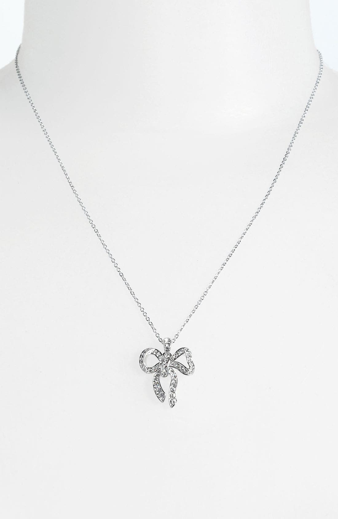 Main Image - Nadri Boxed Bow Pendant Necklace (Nordstrom Exclusive)