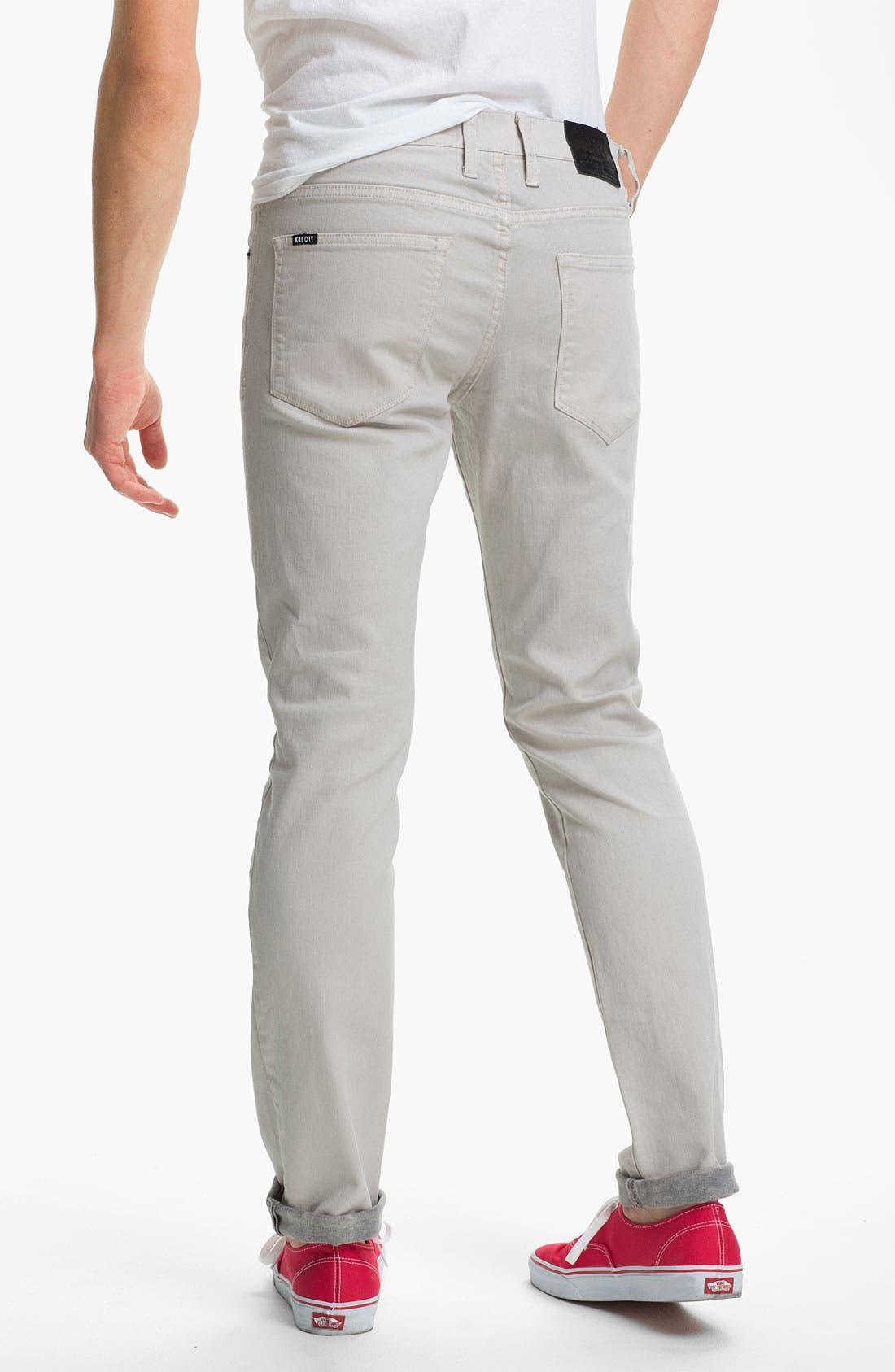 Alternate Image 1 Selected - Kill City 'Wire' Slim Skinny Leg Jeans (White)