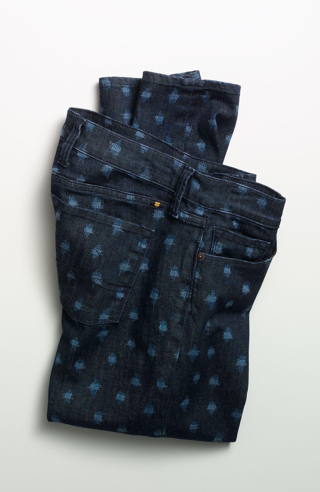 Alternate Image 4  - Lucky Brand 'Sofia' Print Skinny Jeans