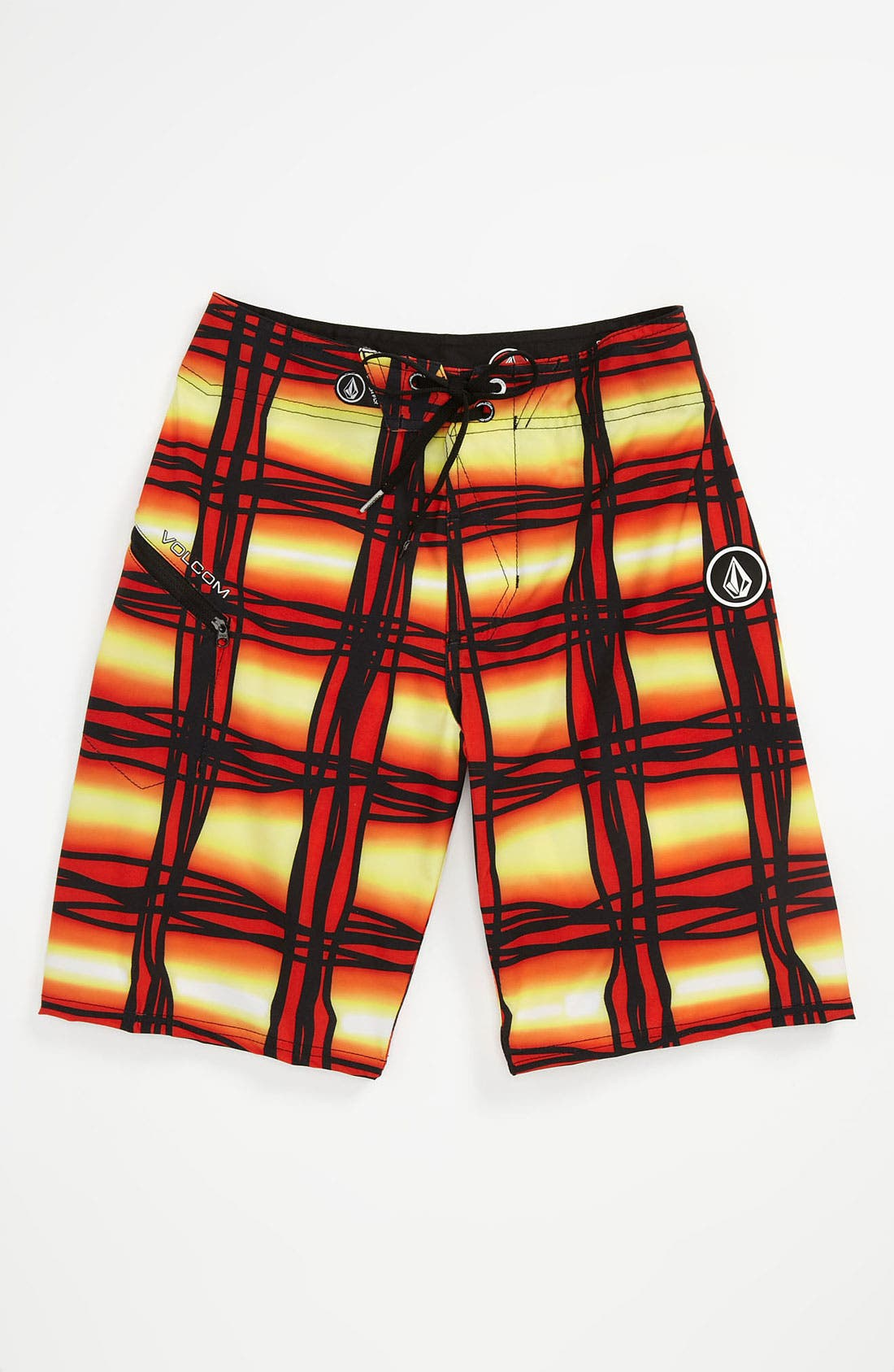 Main Image - Volcom 'Wavey Plaid' Board Shorts (Big Boys)