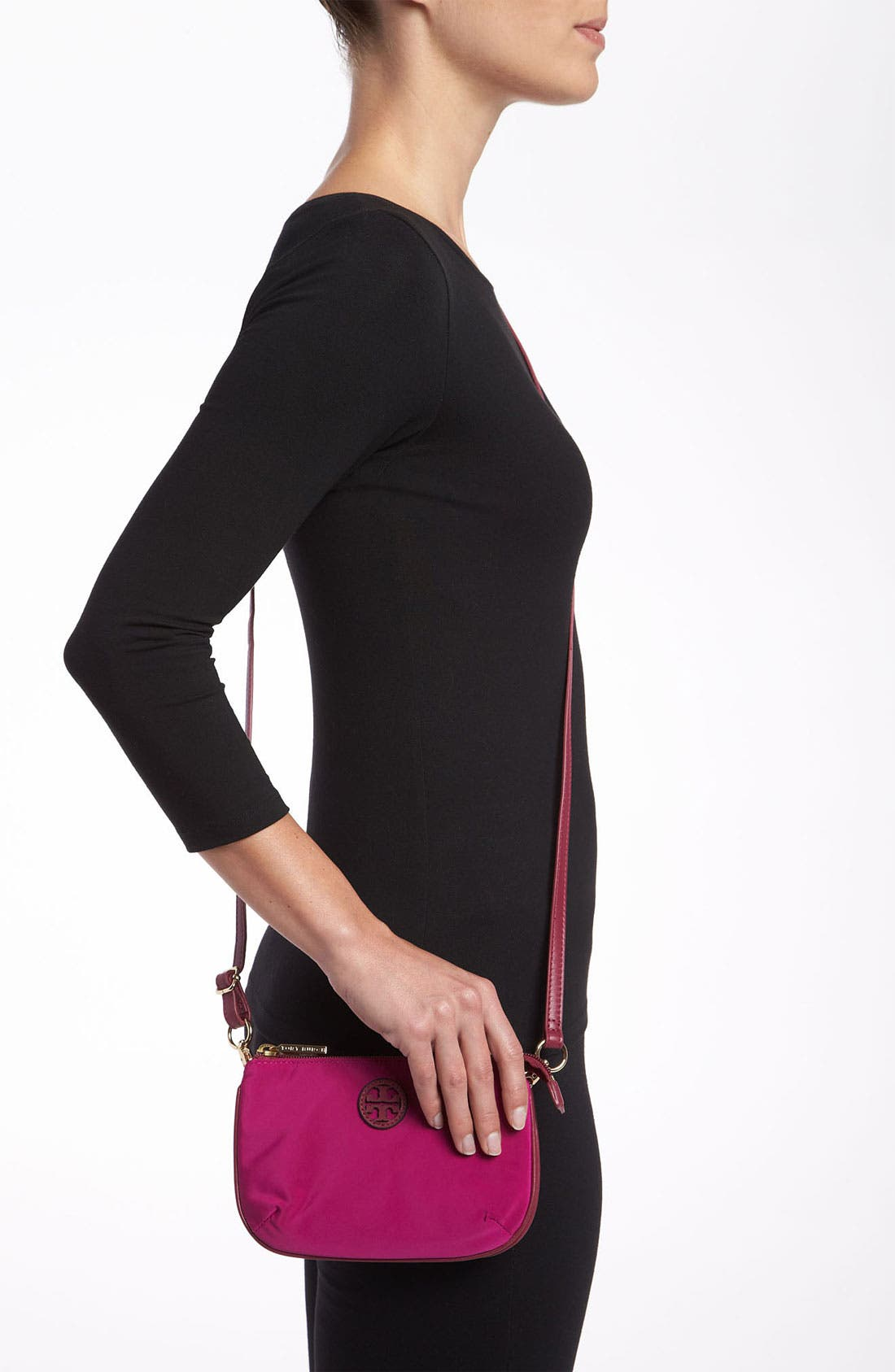 Alternate Image 2  - Tory Burch Stacked Logo Nylon Crossbody Bag