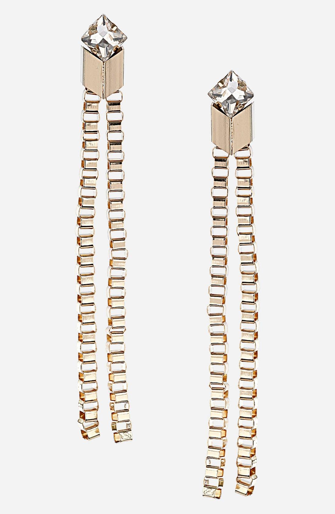 Main Image - Topshop 'Box Chevron' Earrings