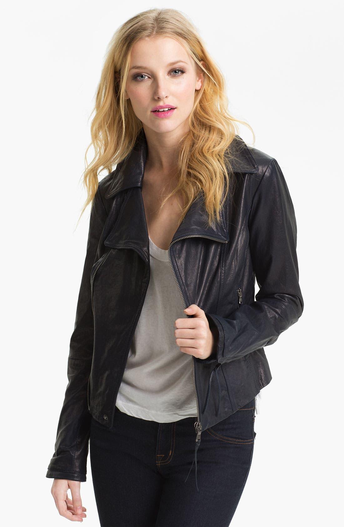 Main Image - June Leather Biker Jacket