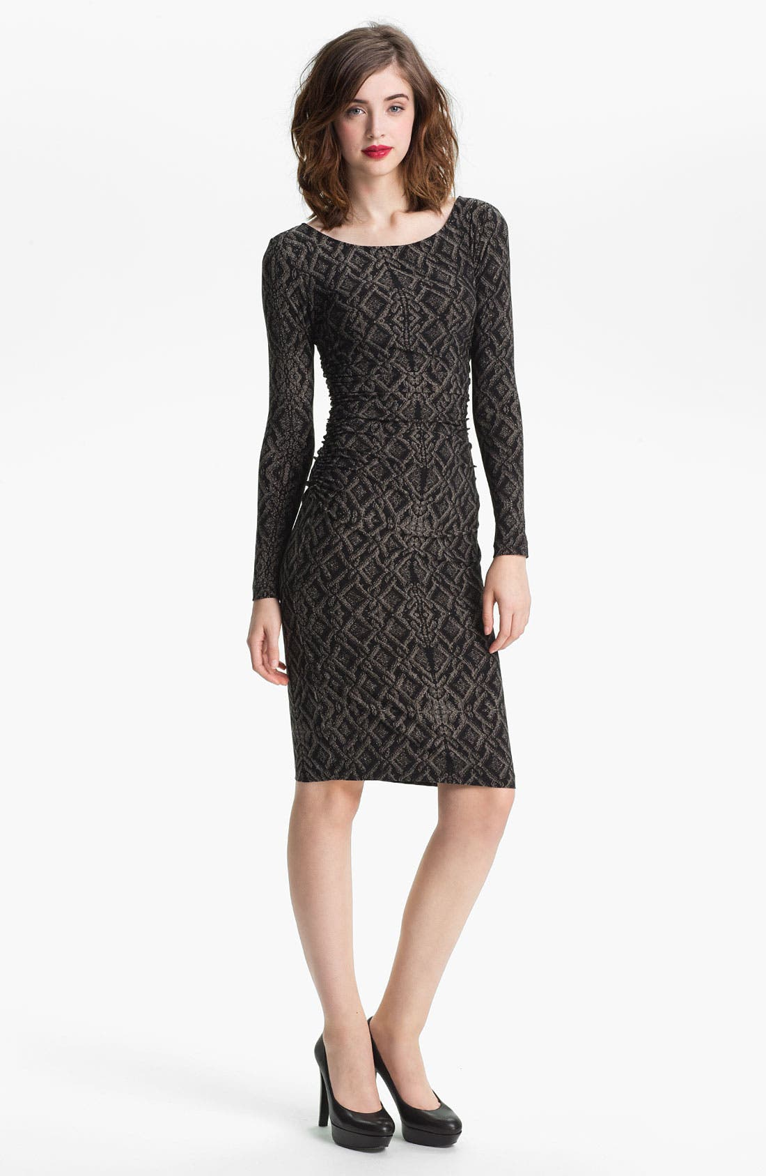 Alternate Image 1 Selected - KAMALIKULTURE Contoured Print Sheath Dress