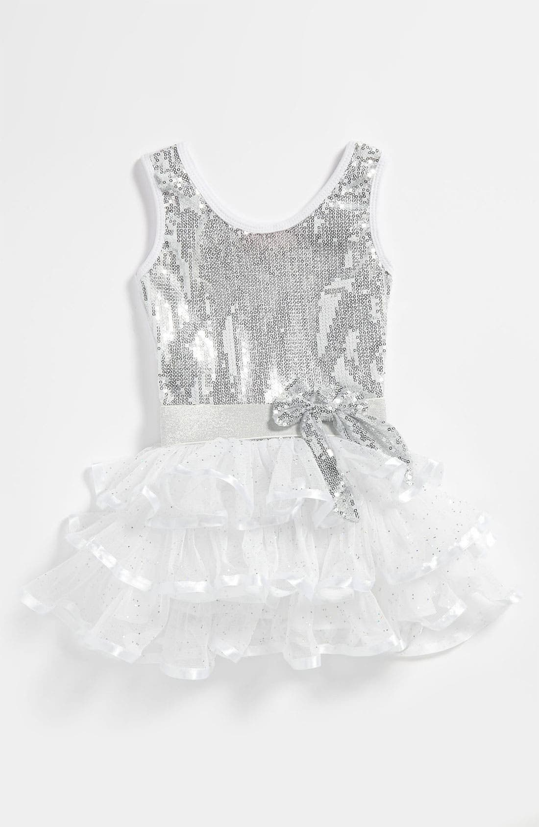 Alternate Image 1 Selected - Popatu Tiered Sequin Dress (Toddler)