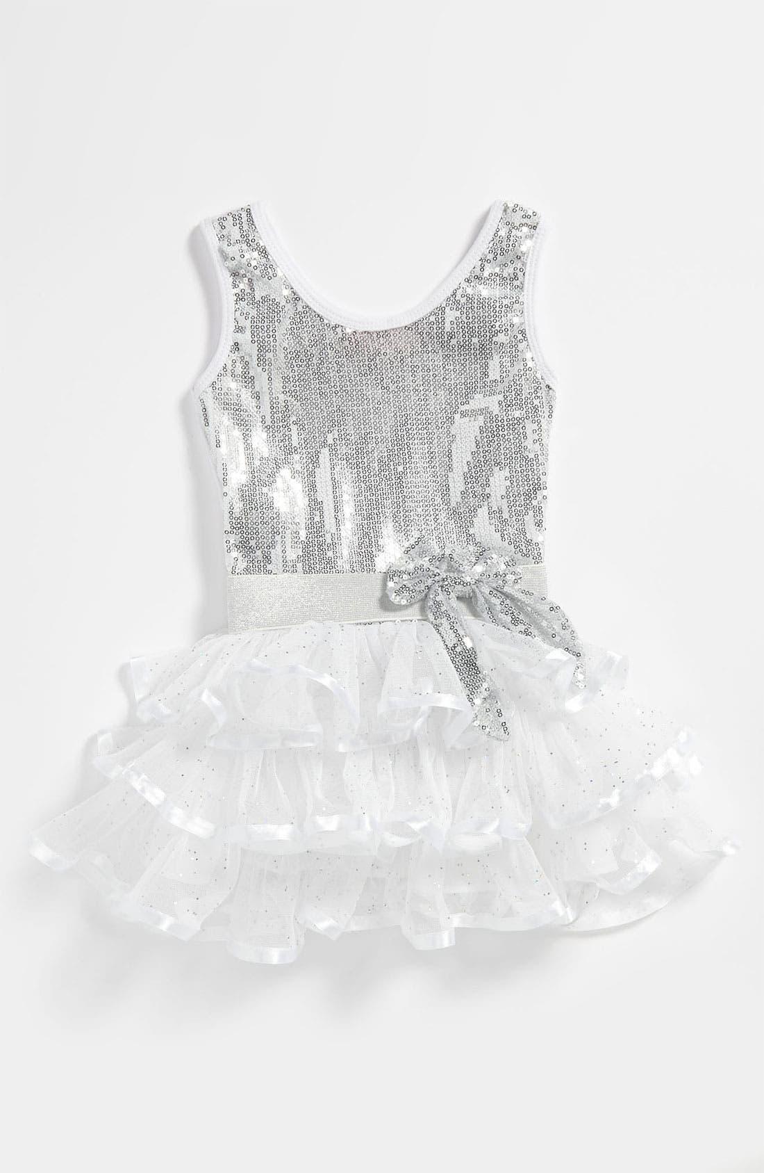Main Image - Popatu Tiered Sequin Dress (Toddler)