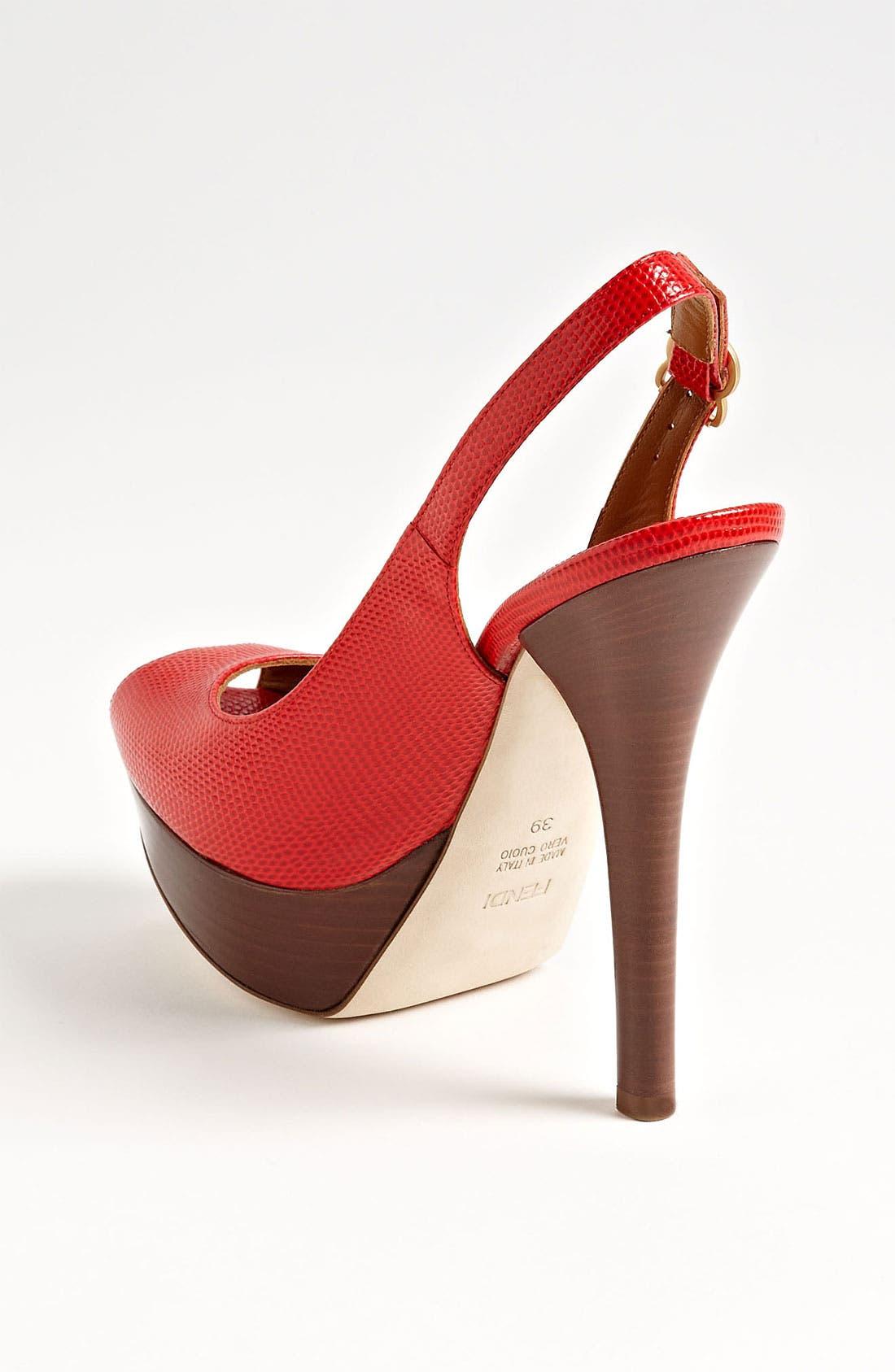 Alternate Image 2  - Fendi 'Fendista' Slingback Sandal