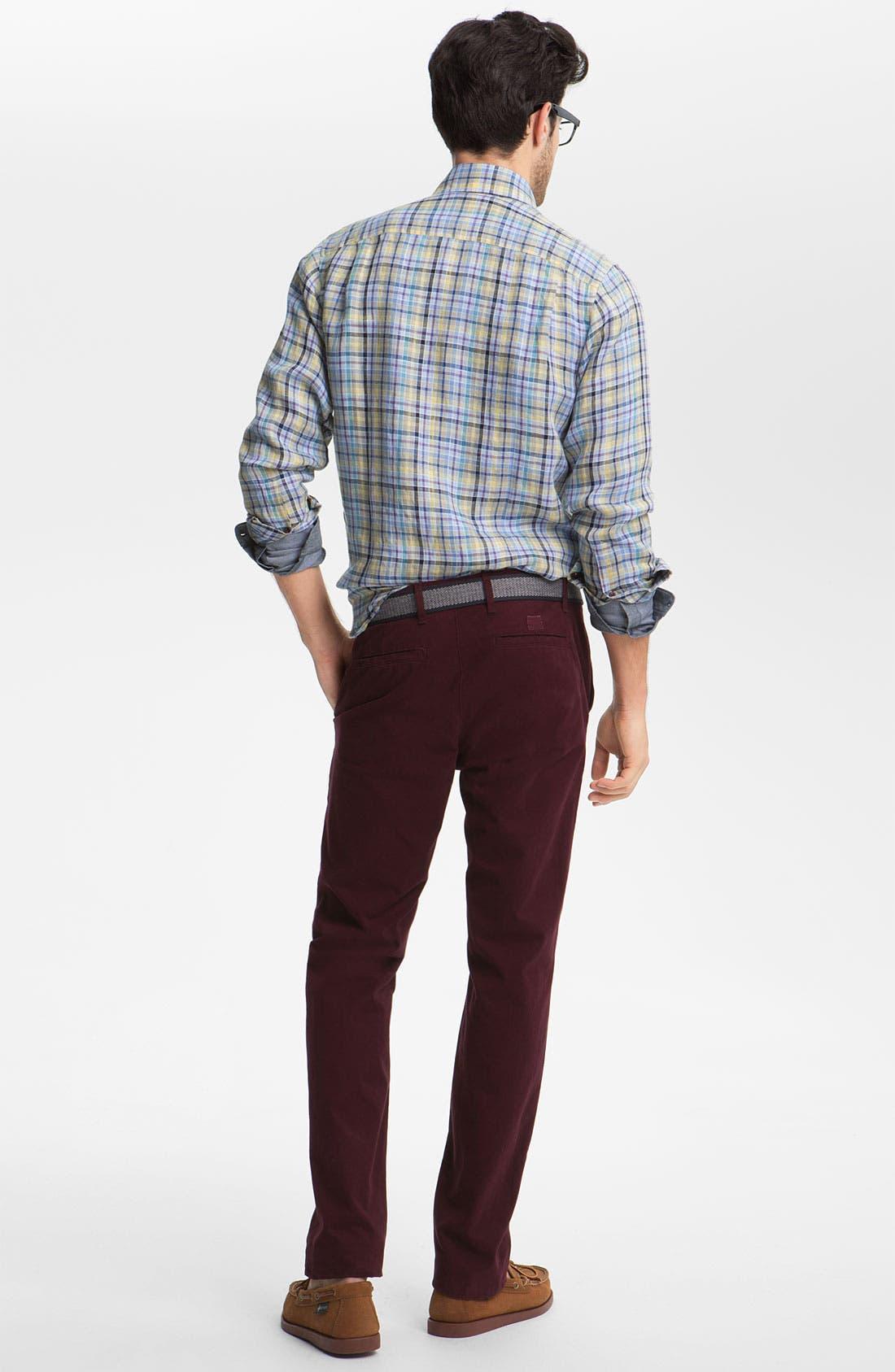 Alternate Image 5  - Robert Talbott Regular Fit Linen Sport Shirt